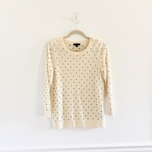 J.Crew Tippi Polka Dot Merino Wool Sweater